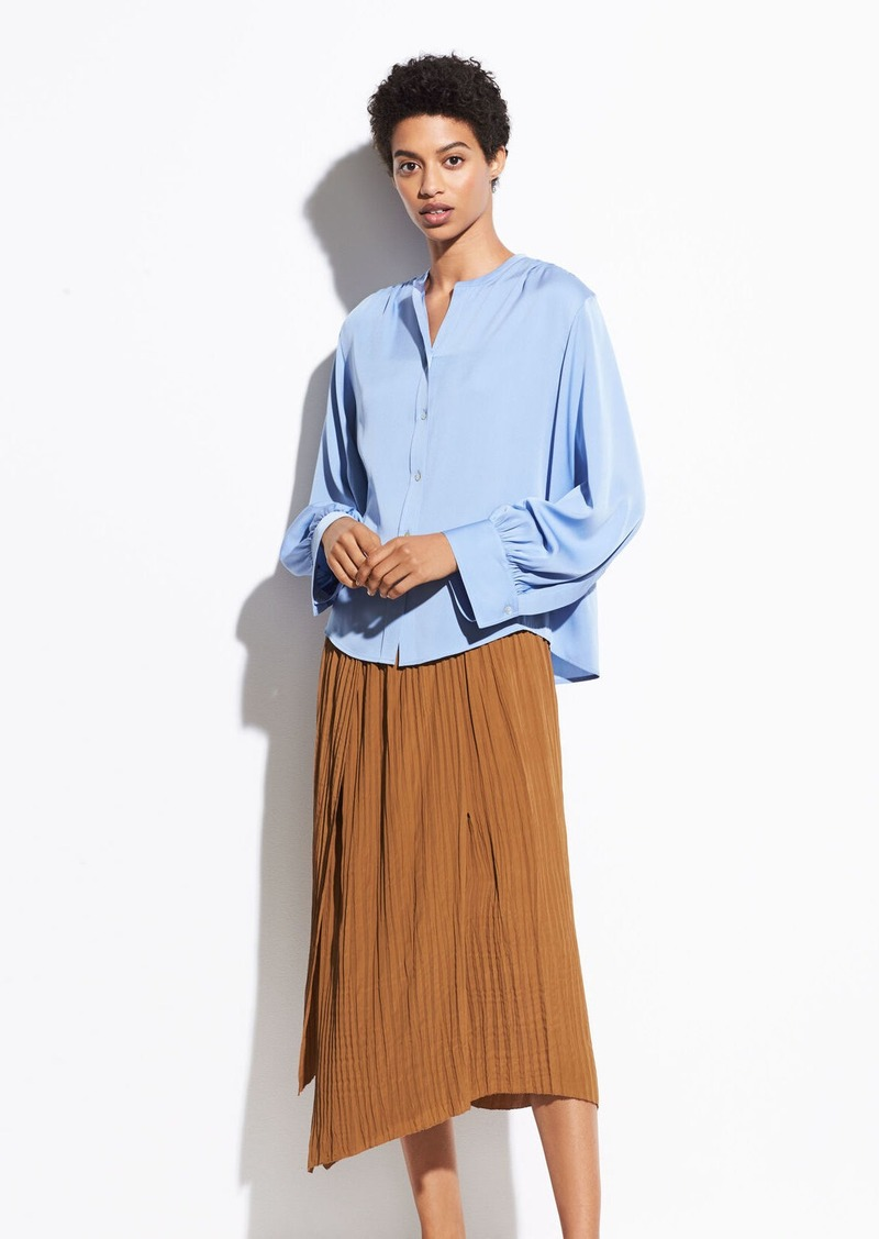 Vince Crinkle Pleat Skirt