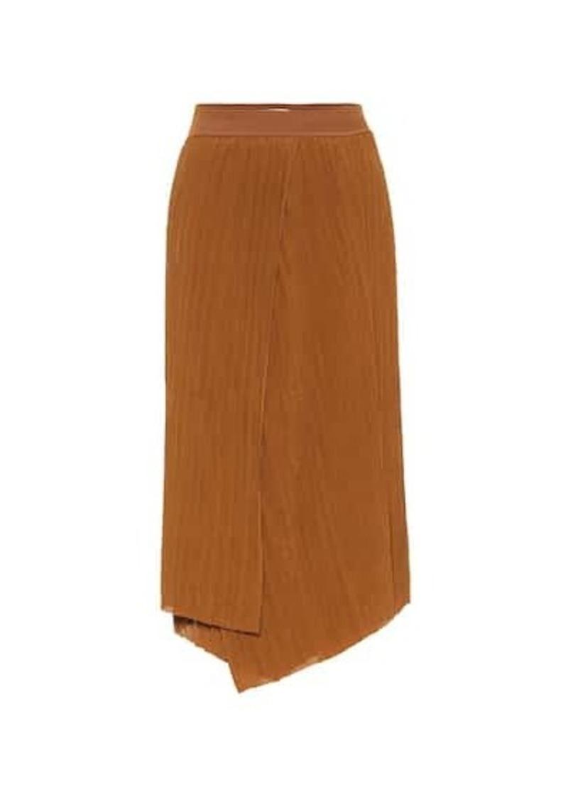 Vince Crinkle pleated midi skirt