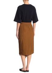 Vince Crinkle Pleated Pull-On Skirt