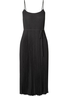 Vince Crinkled Plissé-crepe Midi Dress