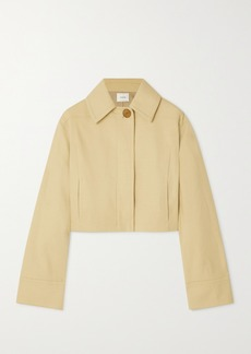 Vince Cropped Cotton-blend Twill Jacket