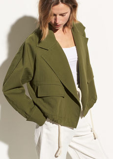 Vince Cropped Cotton Lapel Jacket