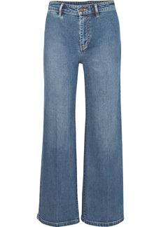 Vince Cropped High-rise Wide-leg Jeans
