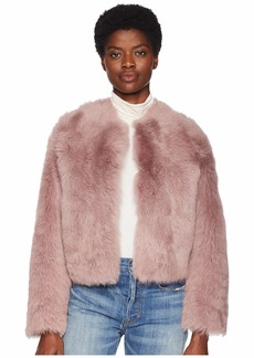 Vince Cropped Shearling Jacket