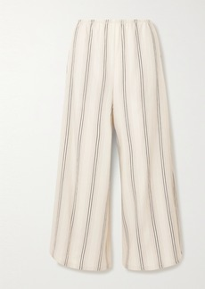 Vince Cropped Twill Wide-leg Pants