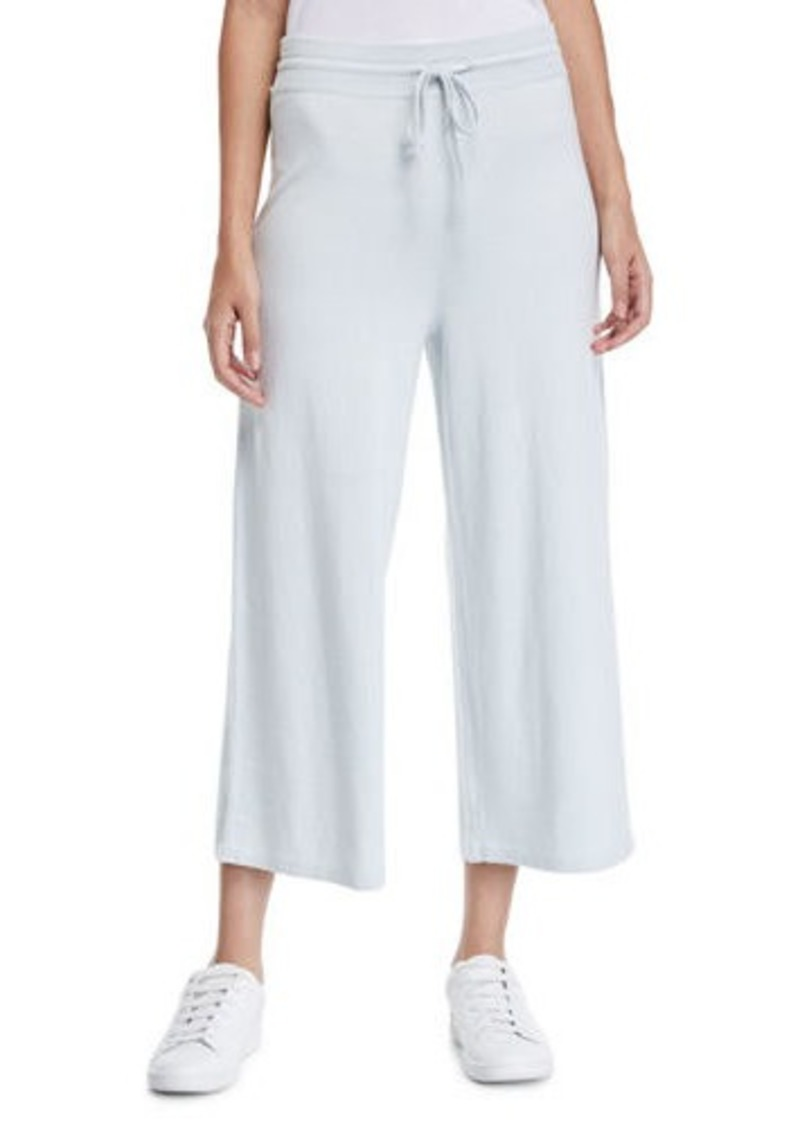 Vince Cropped Wide-Leg Cotton Sweatpants