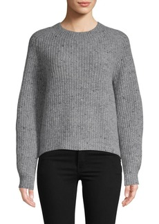 Vince Cropped Wool-Blend Pullover