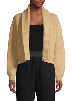 Vince Cropped Wool Cashmere Cardigan