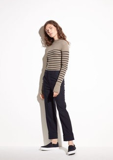 Cuffed Coin Pocket Stretch-Wool Trouser