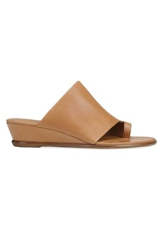 Vince Darla Leather Toe-Strap Wedge Sandals