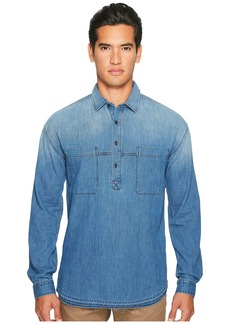 Vince Denim 1/2 Placket Pullover Shirt