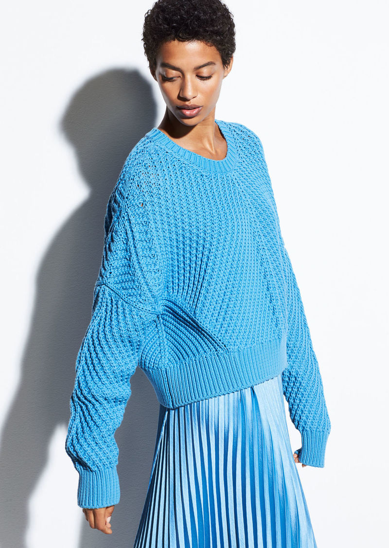 Directional Rib Cotton Pullover