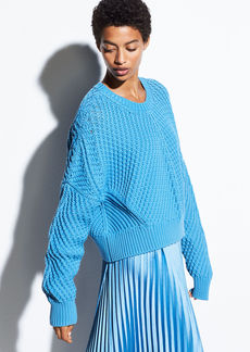 Vince Directional Rib Cotton Pullover