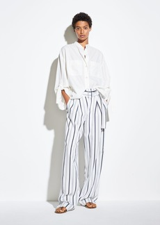 Vince Dobby Stripe Belted Pant