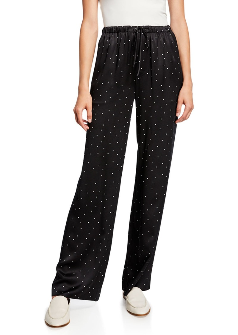 Vince Dot-Print Silk Pajama Pants