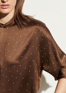 Vince Dotted Satin Popover