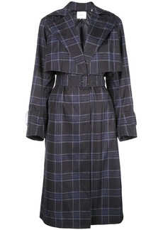 Vince double-breasted checked coat
