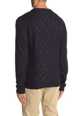 Vince Double-Face Knit Long Sleeve Henley
