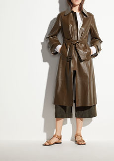 Vince Double Face Leather Trench