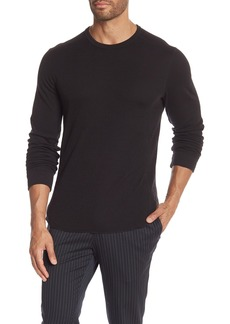 Vince Double Knit Slim Fit Long Sleeve T-Shirt