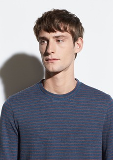 Vince Double Knit Stripe Crew
