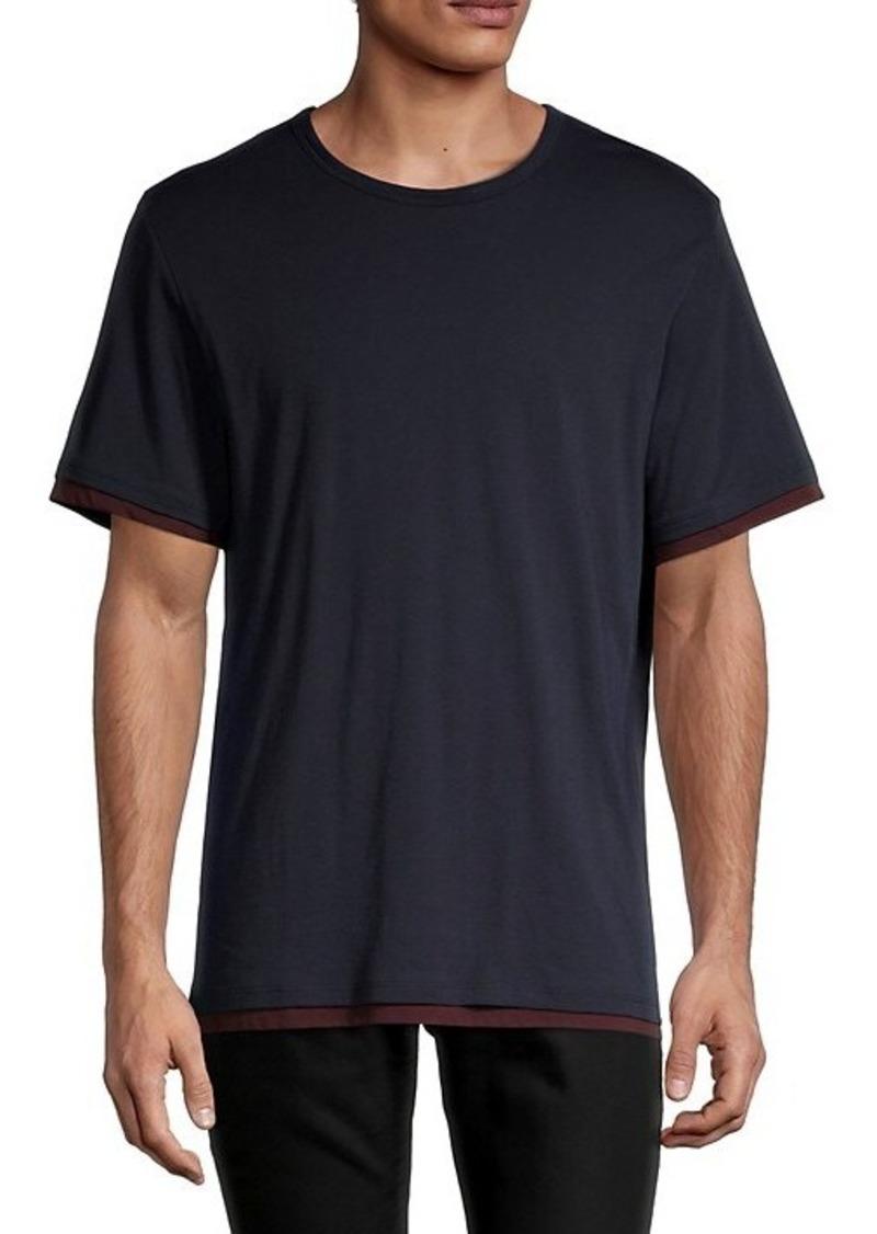 Vince Double Layer Pima Cotton T-Shirt