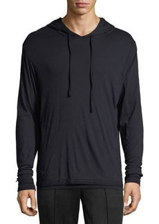 Vince Double-Layer Pullover Hoodie