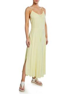 Vince Double-Layer Spaghetti-Strap Slip Dress