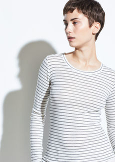 Vince Double Pinstripe Long Sleeve Crew