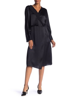 Vince Drape Panel Silk Dress