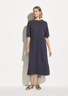 Vince Drape Twill T-Shirt Dress