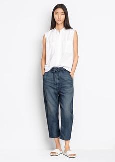 Drawstring Denim Trouser