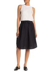 Vince Drawstring Waist A-Line Skirt