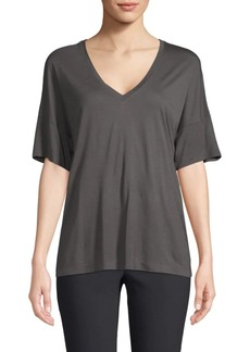 Vince Drop Shoulder V-Neck T-Shirt