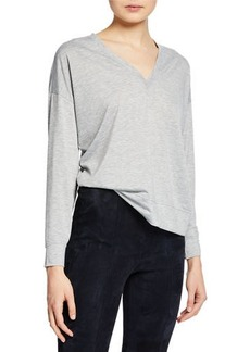 Vince Drop-Shoulder V-Neck Top