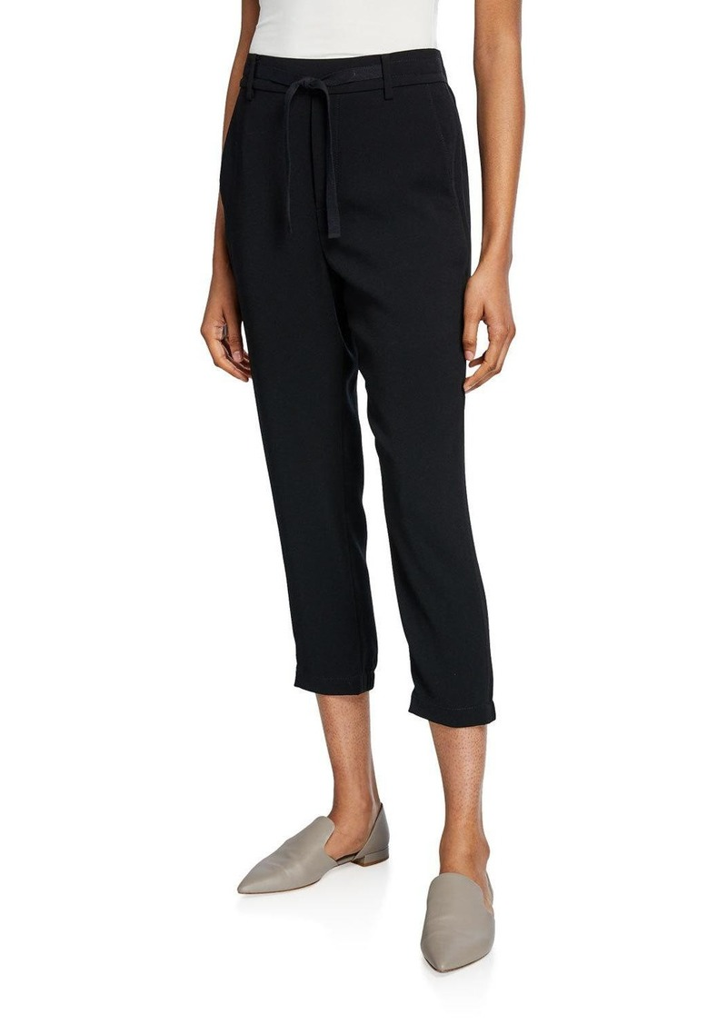 Vince Easy Drawstring Pull-On Capri Pants
