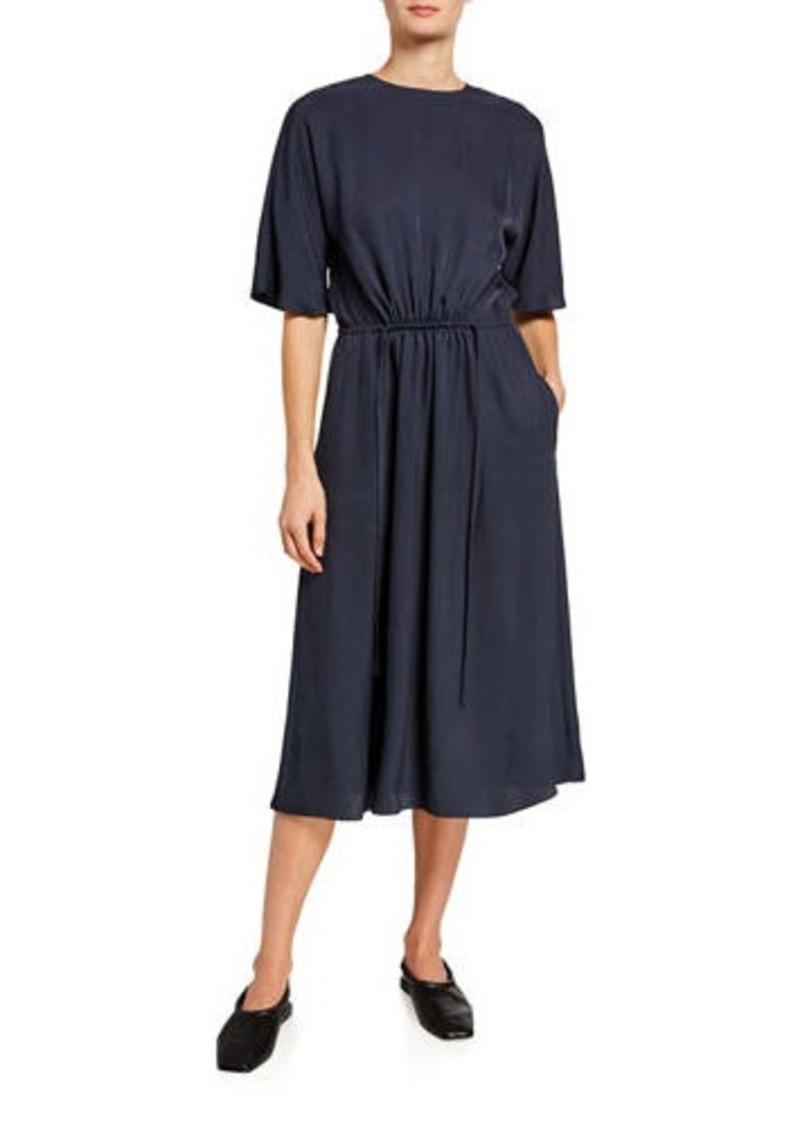 Vince Elbow-Sleeve T-Shirt Dress