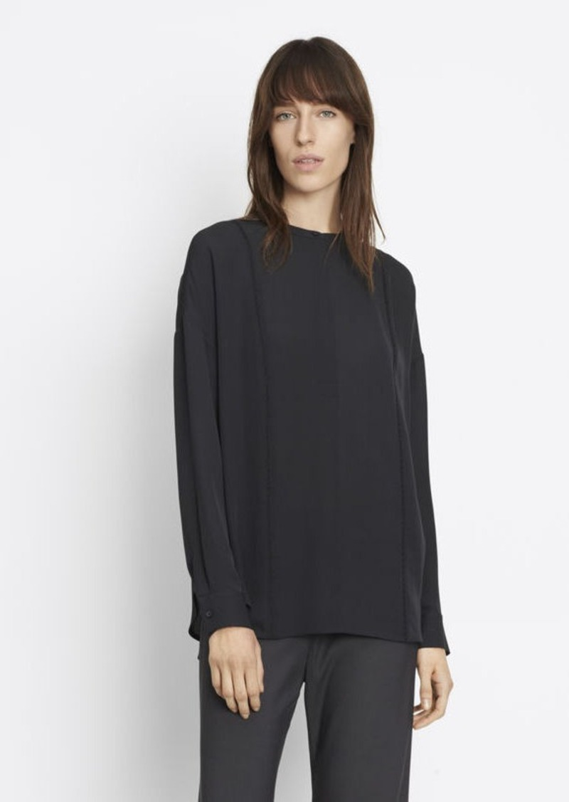 Vince Embroidery Stitch Blouse