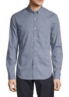 Vince End On End Chambray Button-Down Shirt
