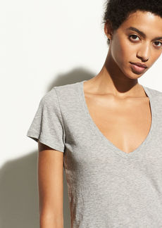 Vince Essential Pima Cotton V-Neck