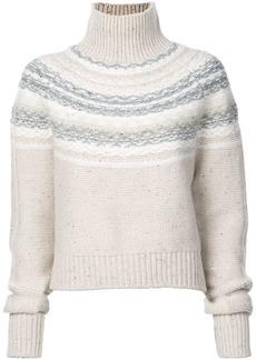 Vince fair isle knitted jumper