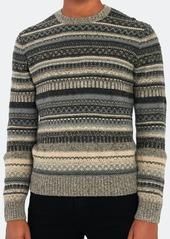 Vince Fairisle Crewneck Sweater - XL - Also in: L