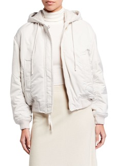 Vince Faux-Fur-Lined Soft Bomber