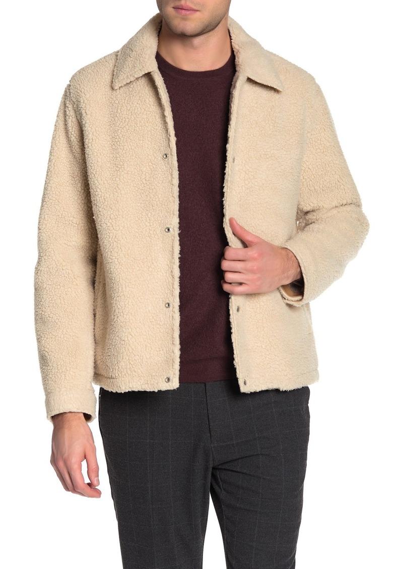 Vince Faux Shearling Coach's Jacket