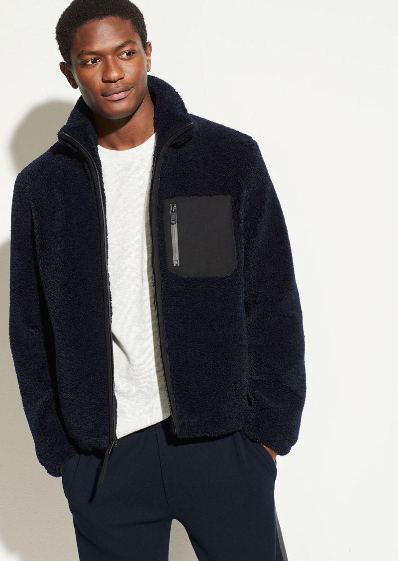 Vince Faux Sherpa Zip Jacket
