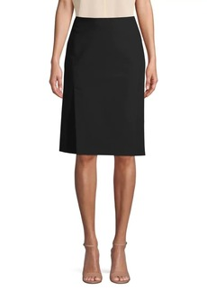 Vince Faux Wrap Cotton Blend Skirt