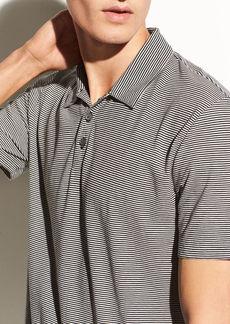 Vince Feeder Stripe Pima Cotton Polo