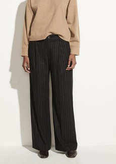 Vince Flannel Stripe Wide Leg Pant