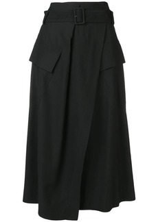 Vince flap pockets midi skirt
