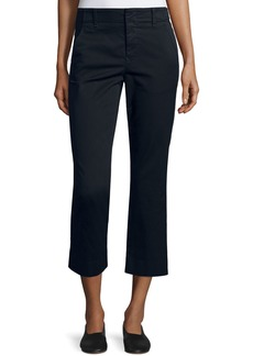 Vince Flat-Front Cropped Chino Pants